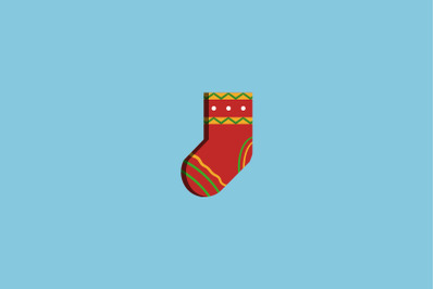 Yellow Stripes Sock Christmas Icon