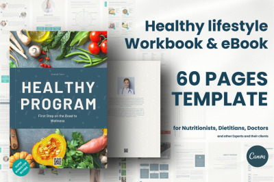 Healthy lifestyle plan template / Healthy program template