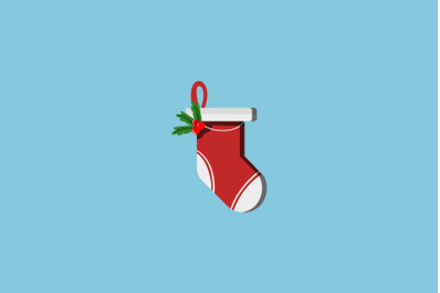 Cherry Sock Christmas Icon
