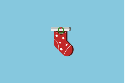 Stary Sock Christmas Icon