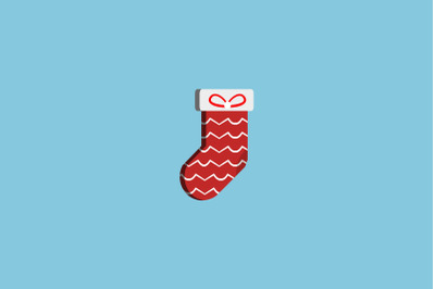 Wave Pattern Sock Christmas Icon