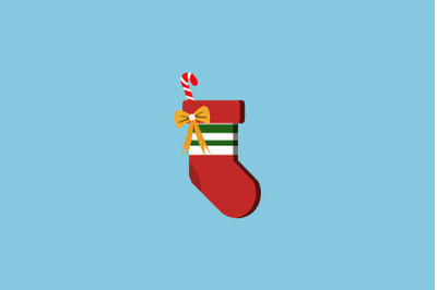 Sweet Decoration Sock Christmas Icon