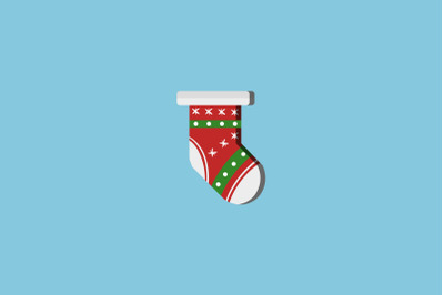 Green Stripe Sock Christmas Icon