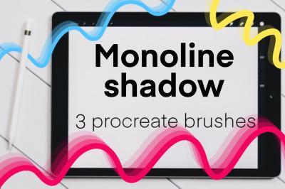 Monoline Shadow brush set for Procreate