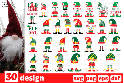 Christmas Elf SVG Bundle