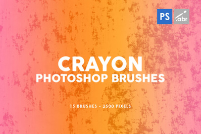 15 Crayon Texture Photoshop Stamp Brushes