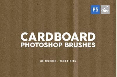 30 Cardboard Photoshop Brushes Vol. 1