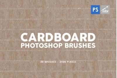 30 Cardboard Photoshop Brushes 2