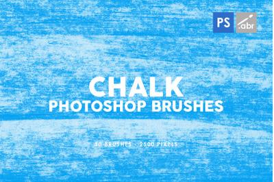 30 Chalk Texture Photoshop Stamp Brushes Vol. 1