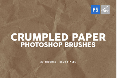 30 Crumpled Paper Photoshop Stamp Brushes Vol.1