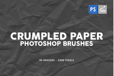 30 Crumpled Paper Photoshop Stamp Brushes Vol.2