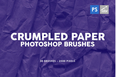 30 Crumpled Paper Photoshop Stamp Brushes Vol.3