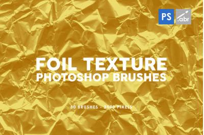 30 Foil Photoshop Stamp Brushes