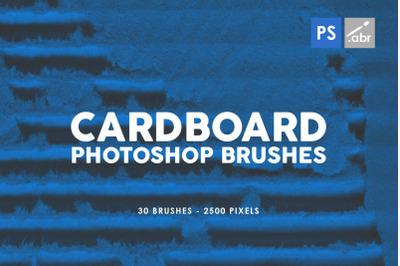 30 Grunge Cardboard Photoshop Brushes