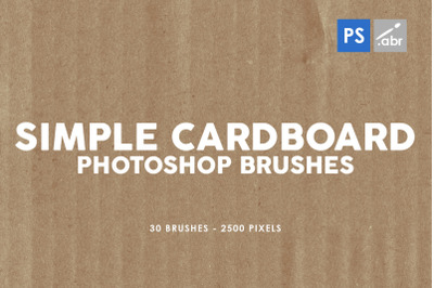 30 Simple Cardboard Photoshop Stamp Brushes