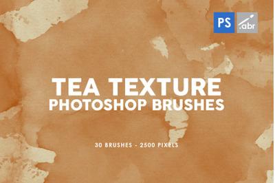 30 Tea Texture Photoshop Stamp Brushes