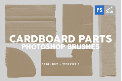 32 Classic Cardboard Parts Photoshop Stamp Brushes