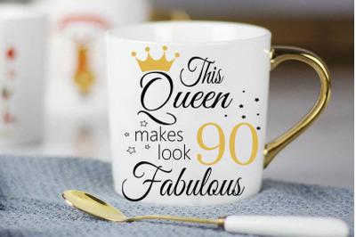 Birthday Svg, 90 Birthday svg, 90 Birthday clipart, happy birthday cri