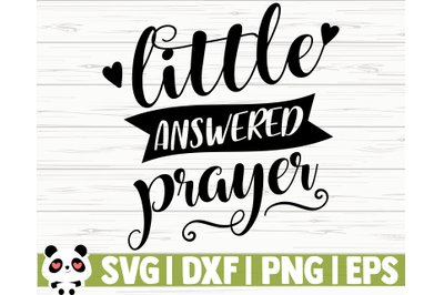 Little Answered Prayer