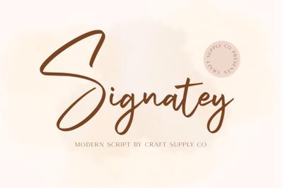 Signatey - Modern Script Font