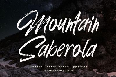 Mountain Saberola Brush Font