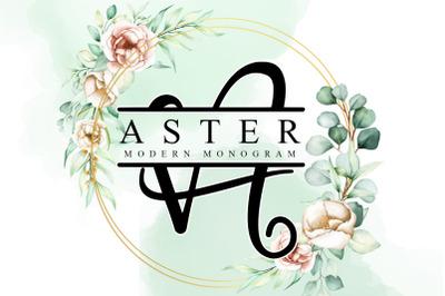 Aster Monogram