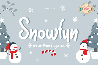 Snowfun Cute Winter Font