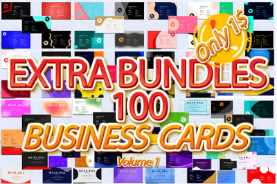 EXTRA BUNDLES 100 BUSINESS CARDS PROFESSIONAL