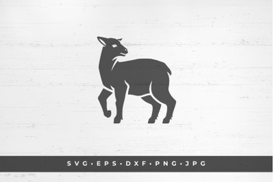 Lamb icon isolated on white background vector illustration. SVG, PNG,
