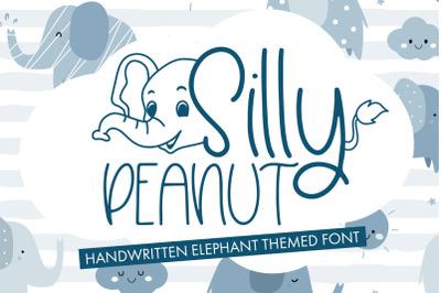 Silly Peanut - Handwritten Elephant Themed Font