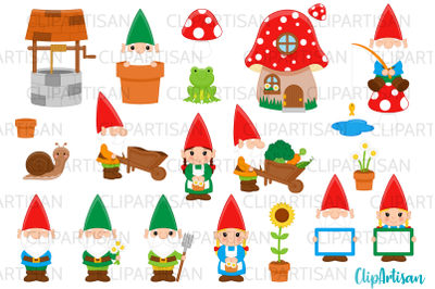 Garden Gnomes Clipart Gnome Dwarves Fairytale PNG JPEG