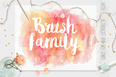Brush Family [3 Fonts]
