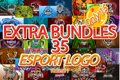 35 ESPORT LOGO BUNDLES POPULAR Volume 1