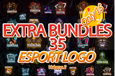 35 BEST ESPORT LOGO BUNDLES POPULAR Volume 2