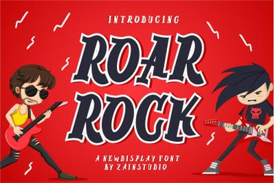 Roar Rock Display Font