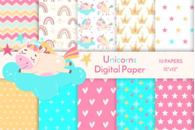 Unicorn digital paper JPEG 16
