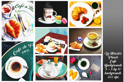 Watercolor French Cafe Watercolor Backgrounds