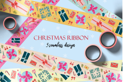 Holiday packing tapes and ribbons/ png. jpeg. eps10. ai