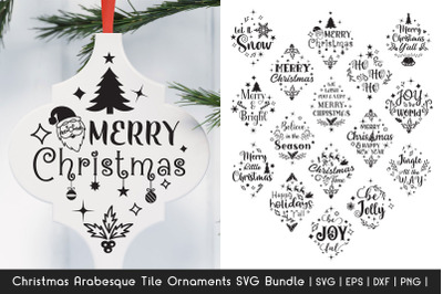Christmas SVG Bundle - Arabesque Tile Ornaments SVG Bundle 5
