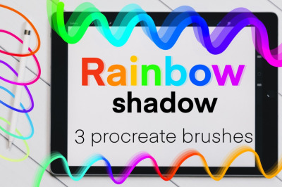 Rainbow Shadow brush set for Procreate.