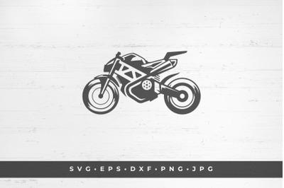Sport bike icon isolated on white background vector illustration. SVG,