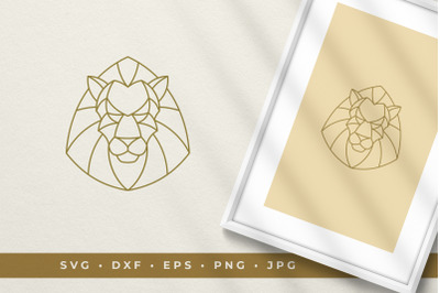 Lion's head line art graphic style vector illustration printable clipa
