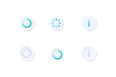 Progress circles UI elements kit