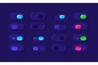 Power on and off UI elements kit