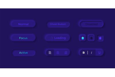 Option buttons UI elements kit