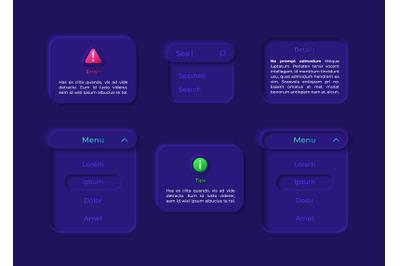 Panel UI elements kit