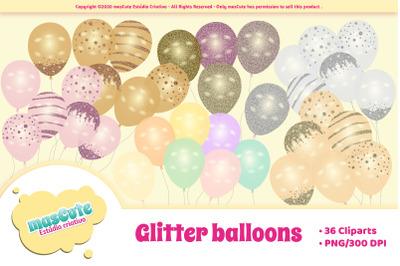 Glitter Balloons Cliparts