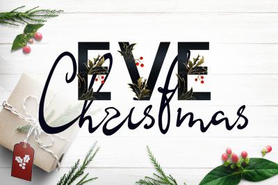 Christmas Eve - font duo SVG+script