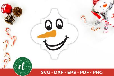 Arabesque Tile Ornament SVG, Snowman, Christmas SVG Cut File
