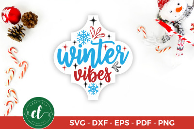 Arabesque Tile Ornament SVG, Winter Vibes, Christmas SVG